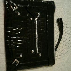 Shiney black clutch